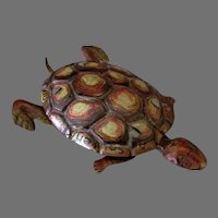 Vintage German Penny Toy - Tin Turtle - Souvenir from The Universal Theaters Concession