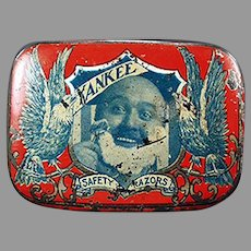 Vintage Reichard and Scheuber Yankee Razor Tin - Antique Safety Razor Tin, Nice Graphics