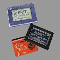 Vintage Aloxite #45 Safety Razor Blade Hone with Original Box & Instructions