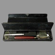 Vintage Keen Kutter Junior Razor Set, Simmons Sharpening Handle & Honing Case