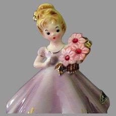 Vintage Josef Original Birthstone Doll Series - July Birthday Girl