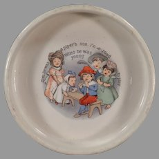 Vintage ABC Baby Dish - Tom the Piper's Son Nursery Rhyme Feeding Bowl