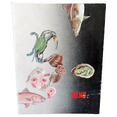 Vintage 1958 Corky's Seafood Restaurant Menu - Huron Ohio