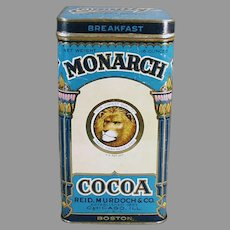 Vintage Reid & Murdoch Monarch Breakfast Cocoa Tin with Nice Graphics - Large Size