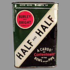 Vintage Burley and Bright and Contentment, Half & Half Pipe Tobacco Tin