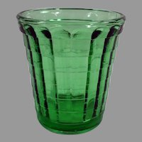 Vintage Green Akro Agate One Ounce Shot Glass or Doll Dish