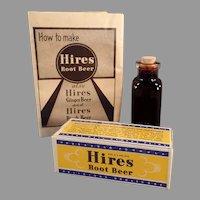 Vintage Hires Root Beer Extract Bottle in Original Sample Package