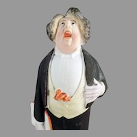 Vintage Schafer and Vater Porcelain - Tall S&V Whimsy Tenor Singer in Tuxedo