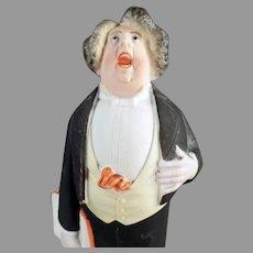 Vintage Schafer and Vater Porcelain - Tall S&V Whimsy Tenor Singer in Tuxedo