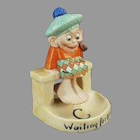 Vintage Schafer & Vater Porcelain - Waiting for the Tide Scotsman S&V Swinger