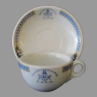 Vintage Masonic Restaurant China – Damascus #10 Lodge Cup & Saucer