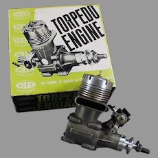 Vintage K&B Torpedo 40 RC Front Rotor Gas Powered Engine and Perry Carburetor