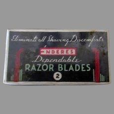 Vintage Enderes Razor Blades Box - Unopened