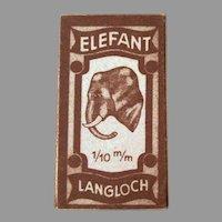 Vintage Elefant (Elephant) Langloch Razor Blades in Original Unopened Box