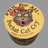 Vintage Gag Toy Cat Cry Pocket Noise Maker Squeaker
