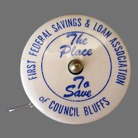 Vintage Celluloid Advertising Tape Measure – Council Bluffs Bank