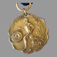 Vintage 1917 Parsons College Tri State Meet Sports Medal