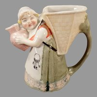 Small Vintage S & V Schafer and Vater Pitcher - Little Girl with Keys - Germany