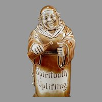Large Vintage Schafer and Vater Wind Up Monk Musical Decanter - How Dry I Am