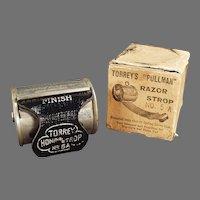 Vintage 1902 Torrey's Pullman Retractable Razor Strop with Original Box