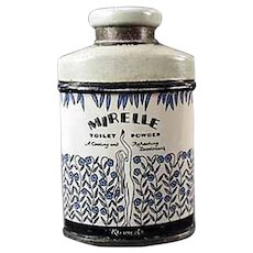 Vintage Sample Talc Tin - Small Kleinert's Mirelle Powder Tin