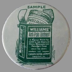 Vintage Sample Tin - Williams' Anti-Pain Ointment Medicine Tin – Medical Advertising