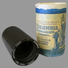 """Vintage Columbia 2M Cylinder Phonograph Record and Box – Two Minute """"Navajo"""""""