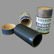 Two (2) Vintage Edison Wax Cylinder Phonograph Records – Special Series Amberols