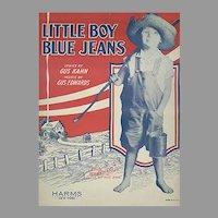 Vintage Sheet Music - 1928 Gus Kahn - Little Boy Blue Jeans