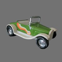 Vintage Nylint Model T Steel Hot Rod Car with Unusual Decal