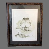Framed Vintage Patterson Print – Humorous Golf Theme - Water Hazard