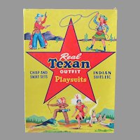 Vintage Indians & Cowboys Real Texan Playsuits Outfit Clothes Box