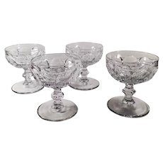 Set of Four Vintage Heisey Glassware #1506 Provincial Pattern Sherbets - Clear
