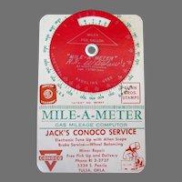 Vintage Mile-A-Meter Computer with Oklahoma Conoco Automotive Advertising
