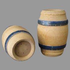 Vintage Wooden Barrel Salt & Pepper Set