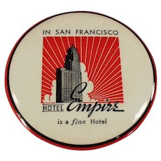 Vintage Celluloid Advertising Clothes Brush - San Francisco's Hotel Empire Souvenir