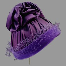 Fancy Royal Purple Hat for Great Vintage Style