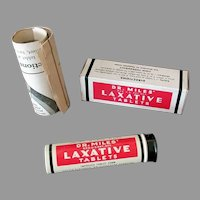 Vintage Dr. Miles Laxative Tablets Tin with Original Box