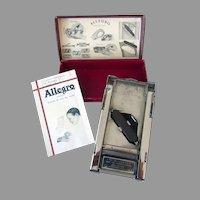 "Vintage Allegro Model ""D"" Razor Blade Sharpener - Stropping Honing Machine with Original Box"