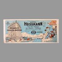 Vintage Advertising Ink Blotter for AAA Hotel Hussmann El Paso Texas Aviation Headquarters
