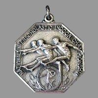 Vintage 1943 Sterling Silver Track & Field Sports Medal – Engraved Broad Jump