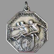 Vintage 1943 Sterling Silver Track & Field Sports Medal – Engraved Broad Jump
