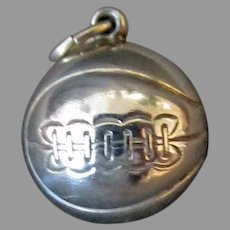 Vintage Sterling Silver Charm - Basketball with Nice Detail