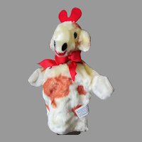 Vintage Character Novelty Co. Soft Plush Giraffe Hand Puppet