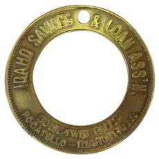 Vintage Brass Token - Idaho Saving & Loan Advertising Keychain Token