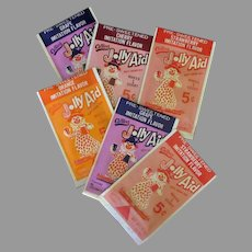 Vintage Jolly Aid Soft Drink Packets - Different Colors & Flavors with Clown Graphics