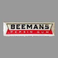 Vintage Unopened Gum Package with Five Sticks of Beemans Pepsin Chewing Gum