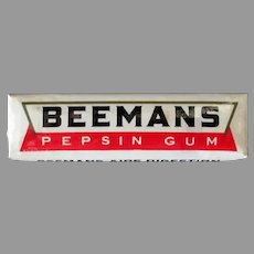 Vintage Unopened Gum Package with Five Sticks of Beemans Pepsin Chewing Gum