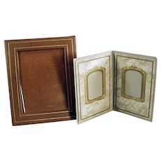Two Vintage Photograph Picture Frames - 2 Simple Frames for a Desk or Mantle