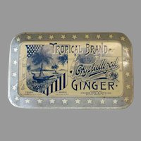 Tropical Brand Crystallized Ginger Vintage Candy Tin – Very Nice Graphics